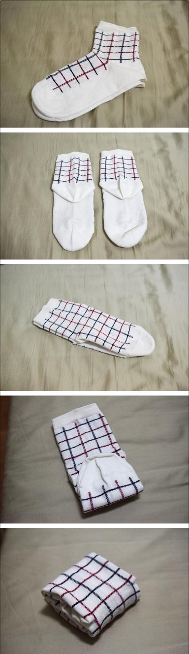摺襪子的步驟