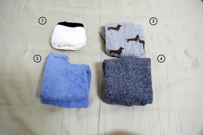 襪子的摺法