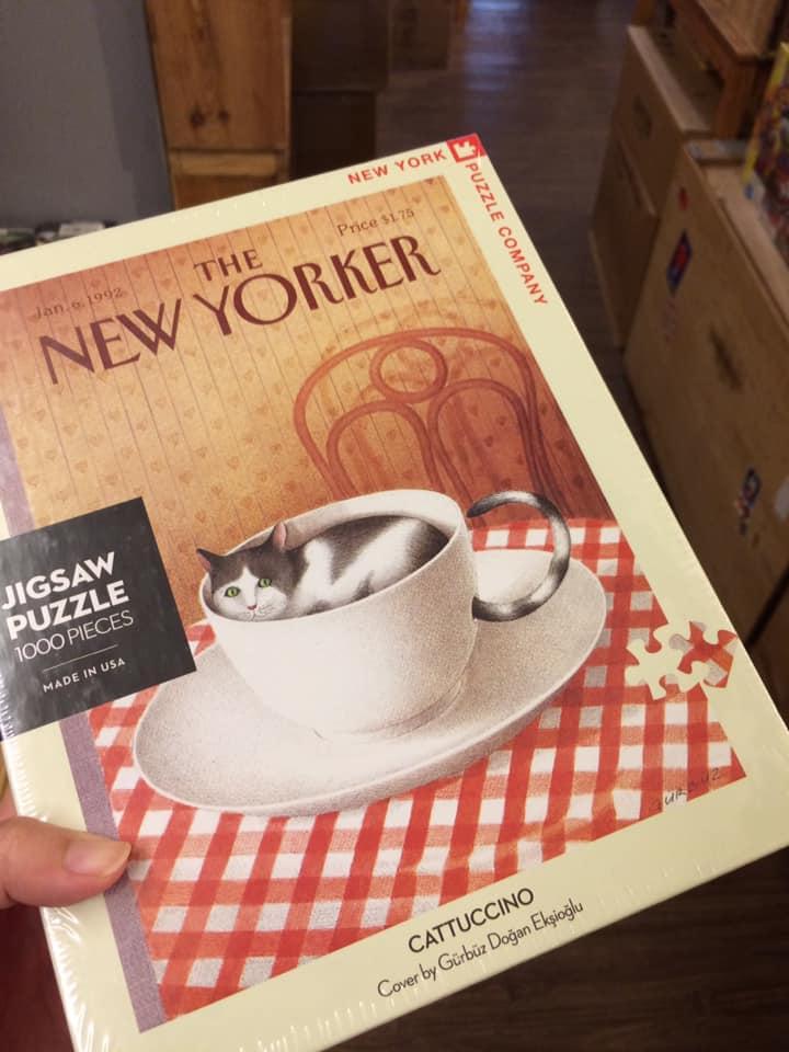 這組本來兩個月前就要買的,結果經過一番波折,今天才買到。The New Yorker的拼圖系列超讚讚,很推薦,不過不好買,至今只有在骰子人有看到。